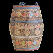 Unique Macedonian Treen (Wooden) Canteen Flask World War I Era