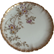 Set of 4 Haviland  Limoges Hand Painted Plates  1882-1900