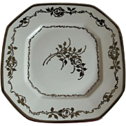 1900-1914 B & C Limoges France Set of 2 Plates, Artist Signed