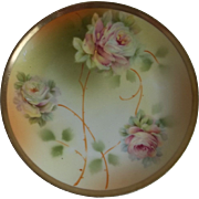 Royal Rudolstadt Rose Plate Prussia 1905-1932