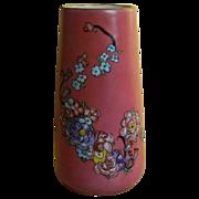 Unique Czech T K Thuny (Count Thun Porcelain Factory) Hand Painted Artist Signed Vase 1930