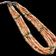 Santo Domingo Ken Aguilar Spiney Oyster Heishi Necklace