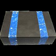 Vintage Onyx and Blue Lapis Box