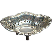 Antique Birks Sterling Silver Footed Nut Dish