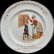 Vintage Royal Doulton Nursery Rhyme Plate Old Mother Hubbard