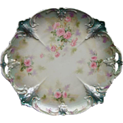 "11 1/4"" R S Prussia Cake Plate Tiffany Finish"