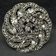 Vintage Trifari Rhinestone Brooch Pin Mint Condition