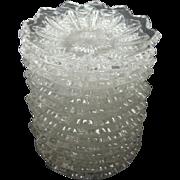 14 EAPG Pattern Glass Mardi Gras Butter Pats By Duncan Miller Ca 1894