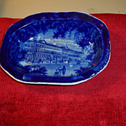 Staffordshire Dark Blue Pie Dish