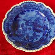 Dark Blue Staffordshire Small Plate