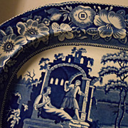 "SALE Staffordshire Platter,  ""The Philosopher""  England"