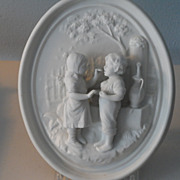 REDUCED Antique Bisque with Figures