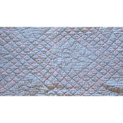 Quilt in the double chain Irish stitch