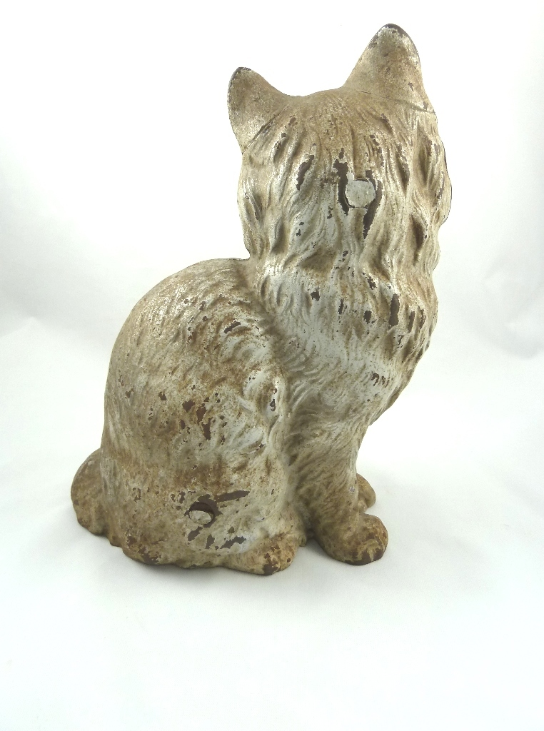 1008 - Cast iron cat doorstop ...