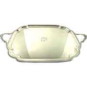 "Fine English Sterling Silver Tray by Charles Stuart Harris  29 7/8"" X 18"""