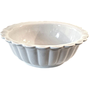 SALE 19th Century Etruria Ironstone Pottery Scalloped Edge Bowl, Circa 1860