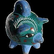 SALE Vintage Mexican Tonala Pottery Piggy Bank