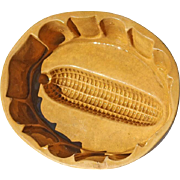 SALE 19th Century Yellow Ware Pottery Corn Mold