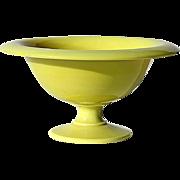 SALE Antique French Yellow Opaline Pedistal Bowl, Circa 1910