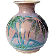 SALE Vintage Signed Art Pottery Vase