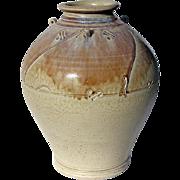 SALE Large Signed Art Pottery Vase