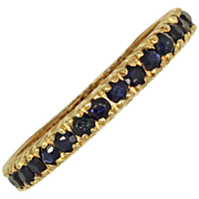 **SALE** A River of Sapphires: Sapphire Eternity Band