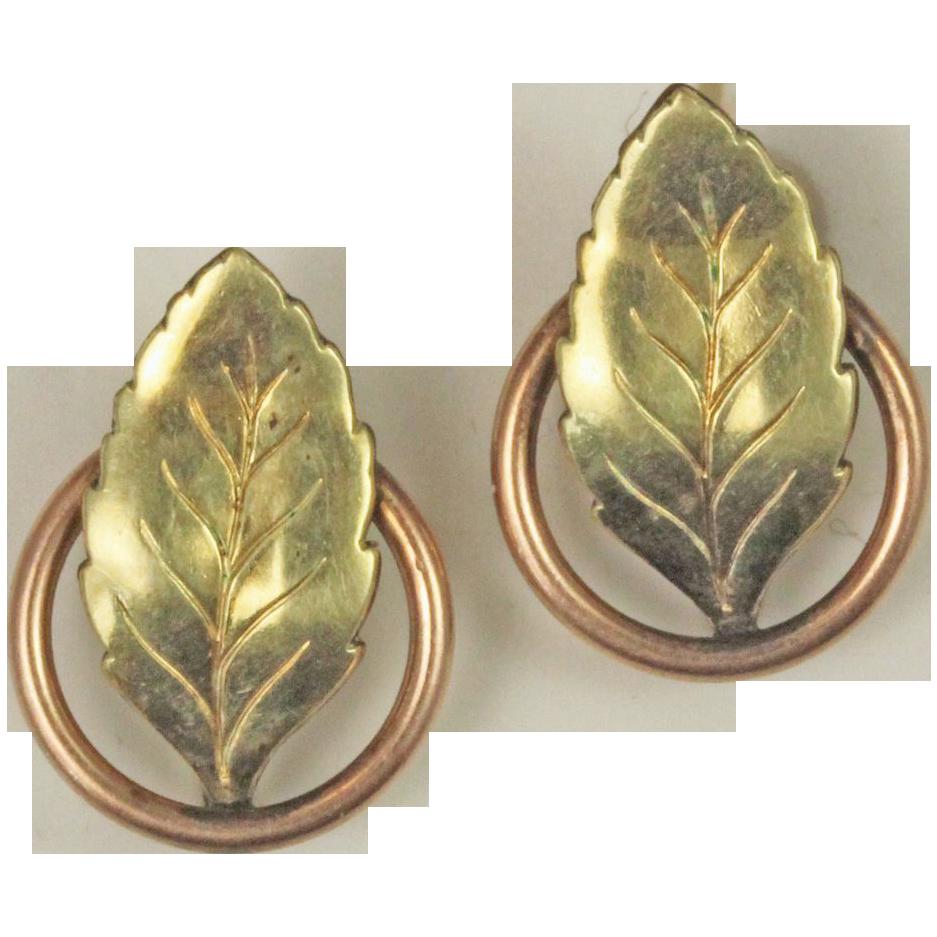 Autumn Leaves Screw-back Earrings, Gold Filled