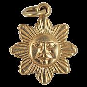 Sun Charm 14kt Gold