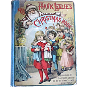 SOLD Victorian 1888 Frank Leslie's Christmas Book  Fully Illustrated - Red Tag Sale Item