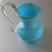 REDUCED Antique Hand Blown Glass Dollhouse Vase Pitcher