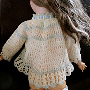 Lovely Lambswool Frothy Crocheted Sweater Jacket