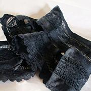 Victorian Heavy Silk Lace Ribbon Trim Hem & Bodice