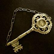 Large Brass Key Rack Cameo For Keys