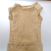 Small Doll's Linen Chemise Lace Edging