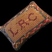 Victorian Needle Point Pin Cushion Or Dollhouse Pillow Miniature