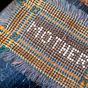 """Woven Wool Silk Throw For """"Mother"""" Silk Fringe"""
