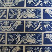 SOLD Antique Block Print Tiny Print For Dollhouse Cherubs Dragons Porpoise
