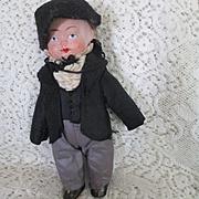 "German Bisque 7"" Boy Doll Original Clothes"