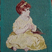 Darling Girl Petite Point Needlepoint