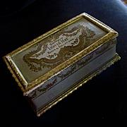 SALE PENDING Beautiful Casket Box Roger Gallet Paris Extrait Indian Hay