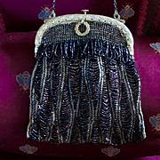 Art Nouveau French Beaded Bag Pristine