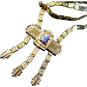 Exquisite Victorian Book Chain Tassel Necklace with Cameo Pendant