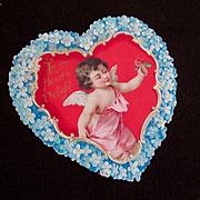 Victorian Raphael Tuck Die Cut Embossed Heart Valentine