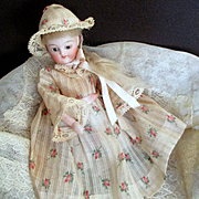 Beautiful Tiny Rosebud Dress Bonnet For Mignonette