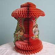 SALE PENDING Darling Deco Beistle Die Cut Honeycomb Large Valentine Cupid Google Eyed Girl
