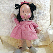 "RARE Knickerbocker 1930's Little Lulu 18"" Excellent Condition, Original Clothes Beanie"