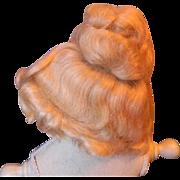 Blond Mohair fashion Wig