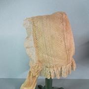 SALE Victorian Handmade Lace Bonnet