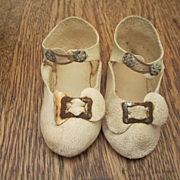 """Antique Leather 3 1/4"""" Doll Shoes"""