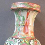 A 19th Century Rose Medallion Vase
